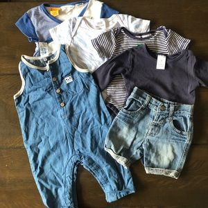 Baby 3-6 months clothing bundle (6 items)